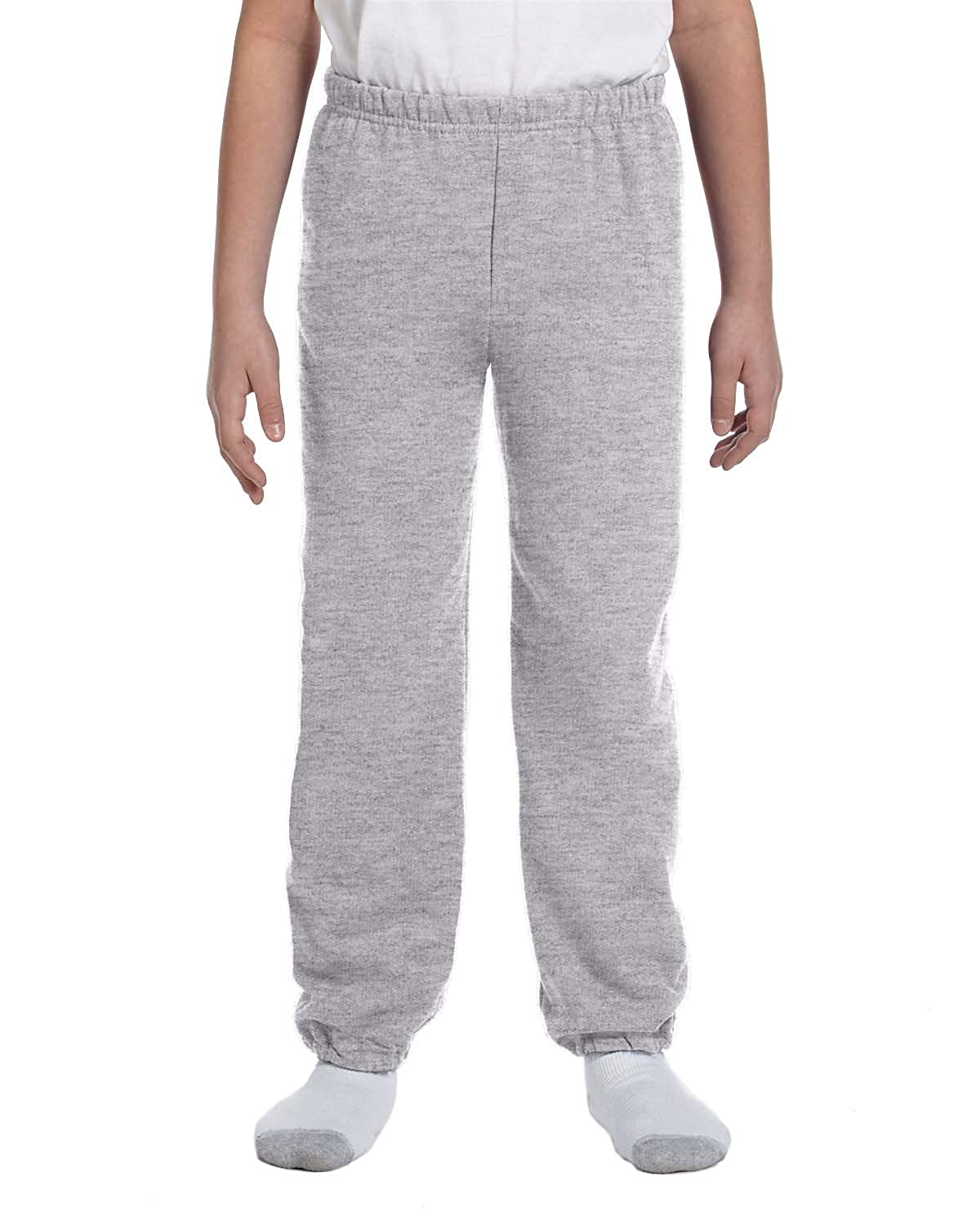 G182B Heavy Blend? 50//50 Sweatpants Gildan Boys 7.75 oz -SPORT GREY -S-12PK