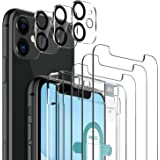 6 Pack LK 3pcs Screen Protector for iPhone 11 + 3pcs Camera Lens Protector Anti-Scratch Easy-Installation Tool Tempered Glass