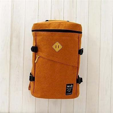 03141b9aa2e4ab (ウォルト)walt リュックサック デイパック 杢調ナイロン ボックス型リュック オレンジ オレンジ フリーサイズ