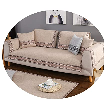 Amazon.com: Cotton/Line Sofa Cover Dirt-Proof Sofa Protector ...