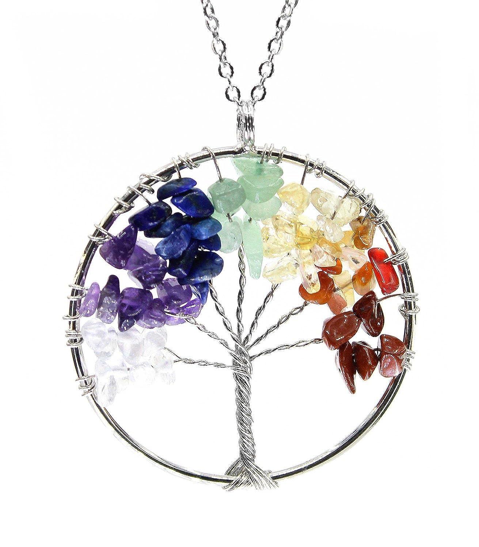 Amazon.com: Boutiquelovin Amulet Tree of Life Healing Crystal Stone ...