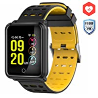 Smart Watch, CanMixs CM05 Heart Rate Monitor Fitness Tracker Smart Bracelet Activity Tracker Bluetooth Pedometer, Waterproof Touch Screen Wristbands for Women Men Kids with Sleep Monitor, Pedometer Step Calorie Counter iOS Android(black)