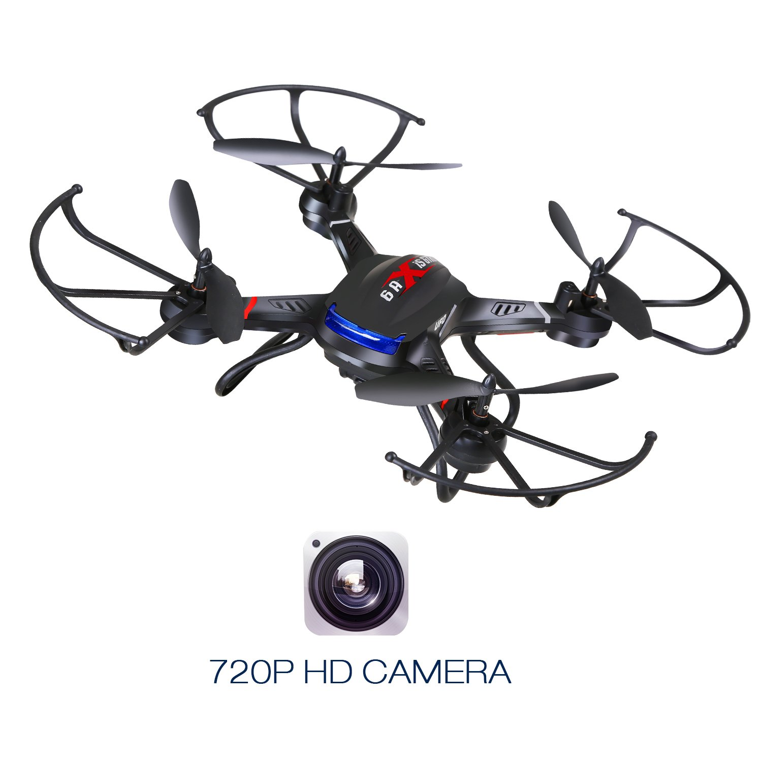 Holy Stone F181C RC Quadcopter Drone with HD Camera RTF 4 Channel 2.4GHz 6-Gyro with Altitude Hold Function,Headless Mode and One Key Return Home, Color Black by Holy Stone (Image #3)