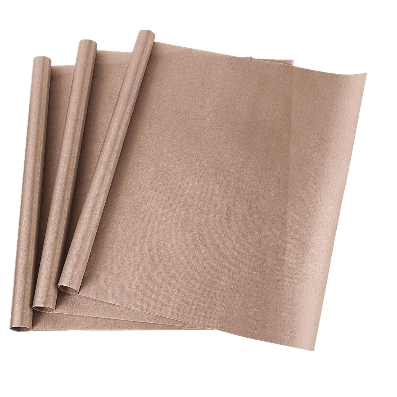 Teflon Heat Press Transfer Sheet for Shirts Iron Pressing Sublimation Machine and Non Stick Craft Mat (16' x 24') 3 Pack GEZHEN