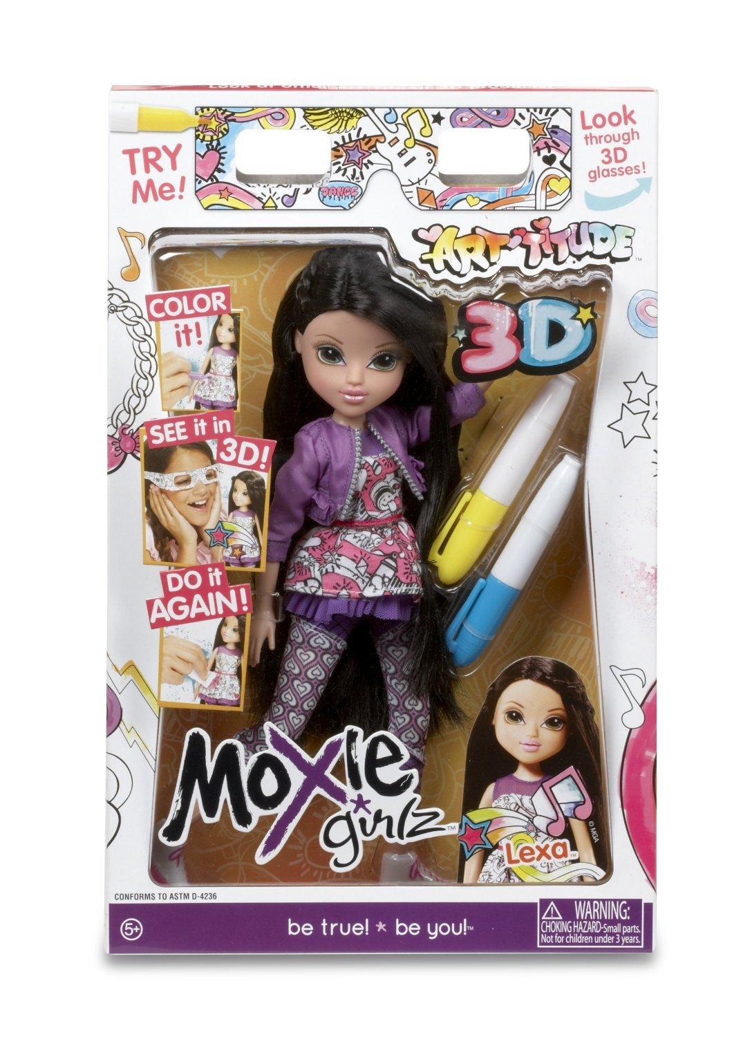 amazon com moxie girlz art titude 3d doll lexa toys u0026 games