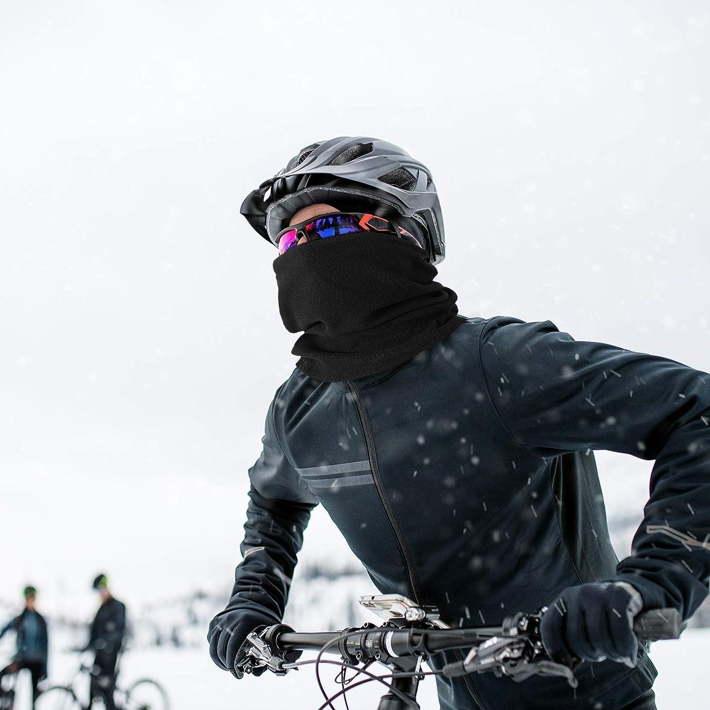 Medium ciclismo al aire libre a prueba de polvo a prueba de viento protecci/ón UV para senderismo Negro Polainas para el cuello