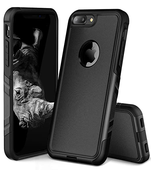 timeless design 82033 8b75d iPhone 7 Plus Case for Men, iPhone 8 Plus Case for Men, OCYCLONE Rhinoceros  Series Rugged Shockproof Heavy Duty Protective iPhone 7 Plus & iPhone 8 ...
