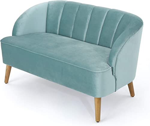 Christopher Knight Home Amaia Modern Velvet Sofa