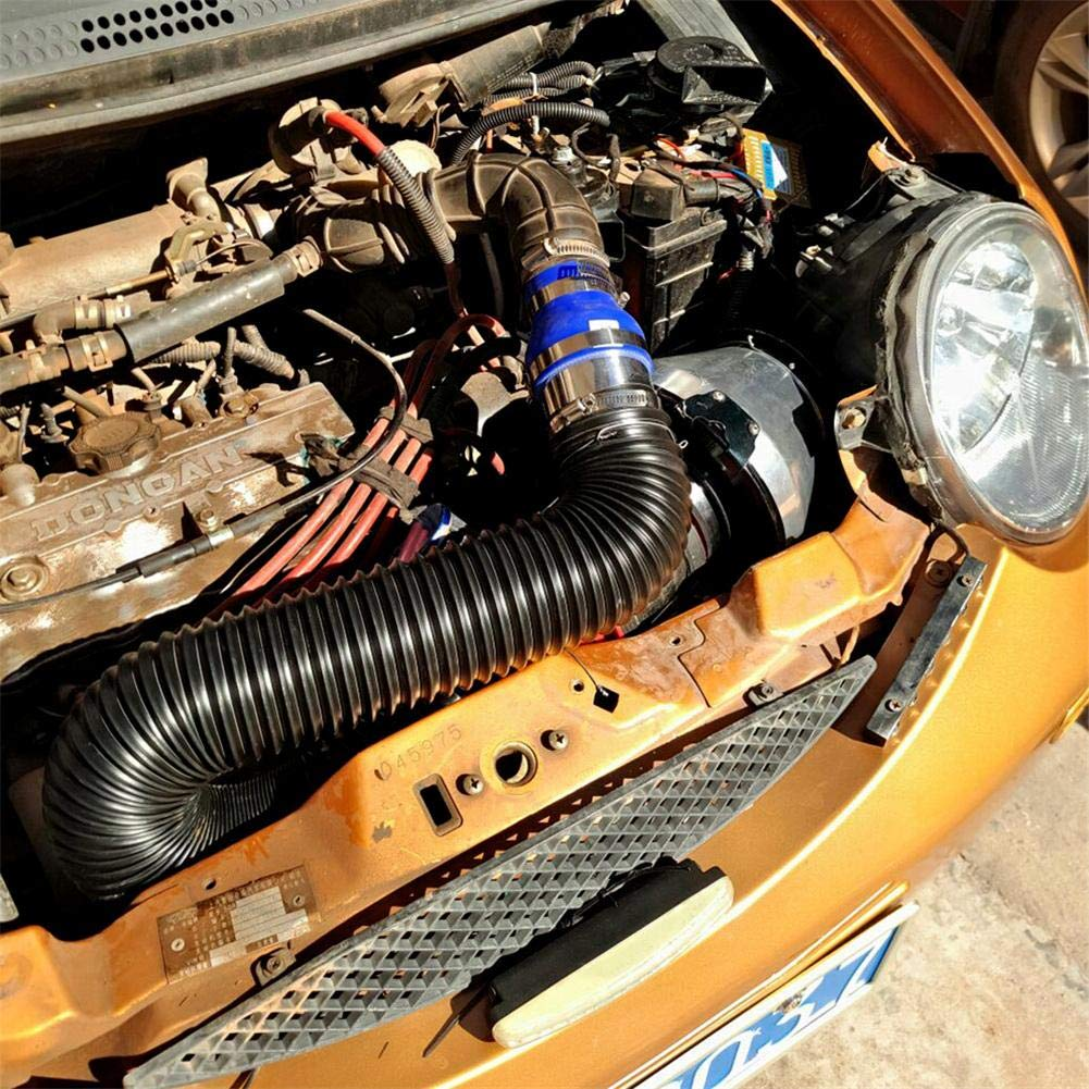 dizi248 Luftansaugschlauchschlauch-Ansaugkanal ersetzt , 2,5-Zoll-Einstellbares Flexibles Auto-SUV-Turbo-Kaltluftansaugsystem-Schlauch