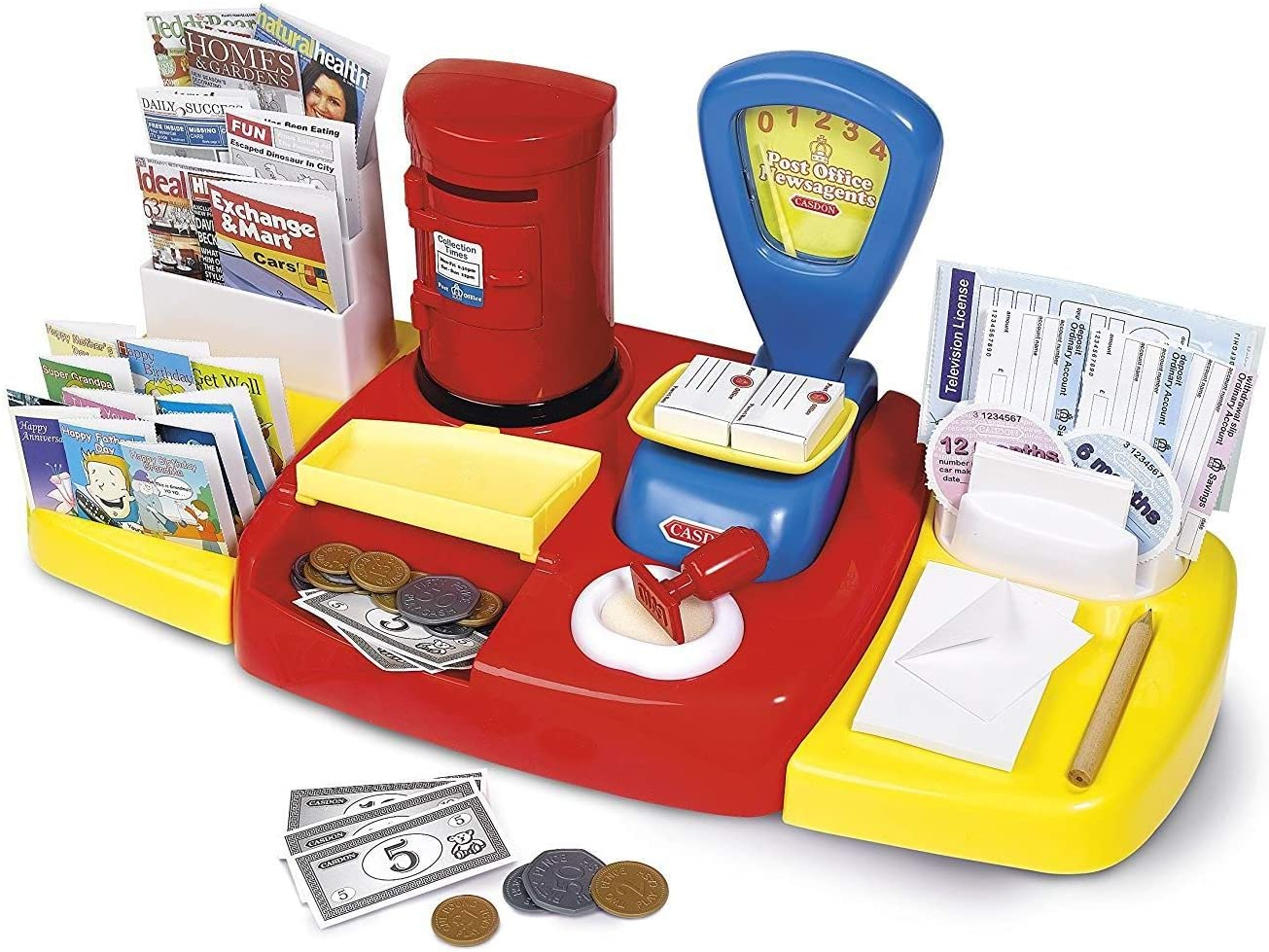 Casdon Post Office Set Childrens Toy Pretend Role Play Playset Kids FREE POSTAGE