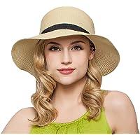 dded498039055 butterme Mujer Mode de verano de playa de paja sombrero plegable sombrero  Viaje Playa de tapa
