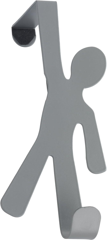8 x 15 x 4.5 cm Stahl Grau Wenko 4468152100 T/ürhaken Boy Grey