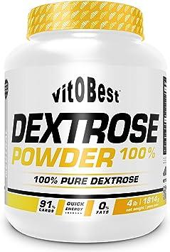 Carbohidratos DEXTROSE POWDER 100% 4 lb (1814 gr.) NEUTRO - Dextrosa en Polvo con Hidrato de Carbono Simple - Suplementos Deportivos y Suplementos ...