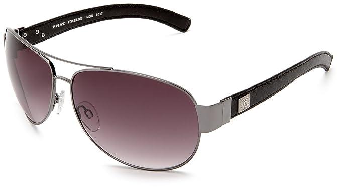 Phat Farm Men\'s 5017 Metal Sunglasses,Gun Frame/Black Lens,one size ...
