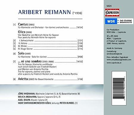 Cantus Ollea Arietta Solo For Clarinet Ni Una Sombra