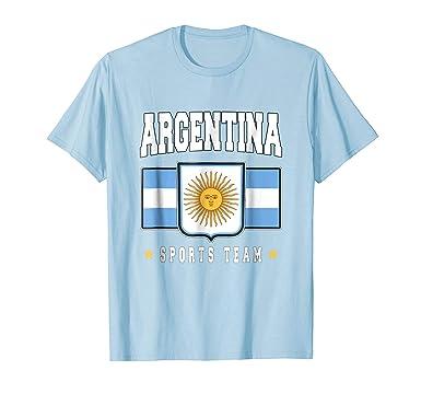 Mens Argentine T-shirt Argentinian Flag Soccer Futbol Fan Jersey 2XL Baby Blue