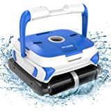 PAXCESS Wall-Climbing Automatic Pool Cleaner with Twin Large 180um Filter Basket,Tangle-Free Cord Up to 50 Feet,Robotic Pool