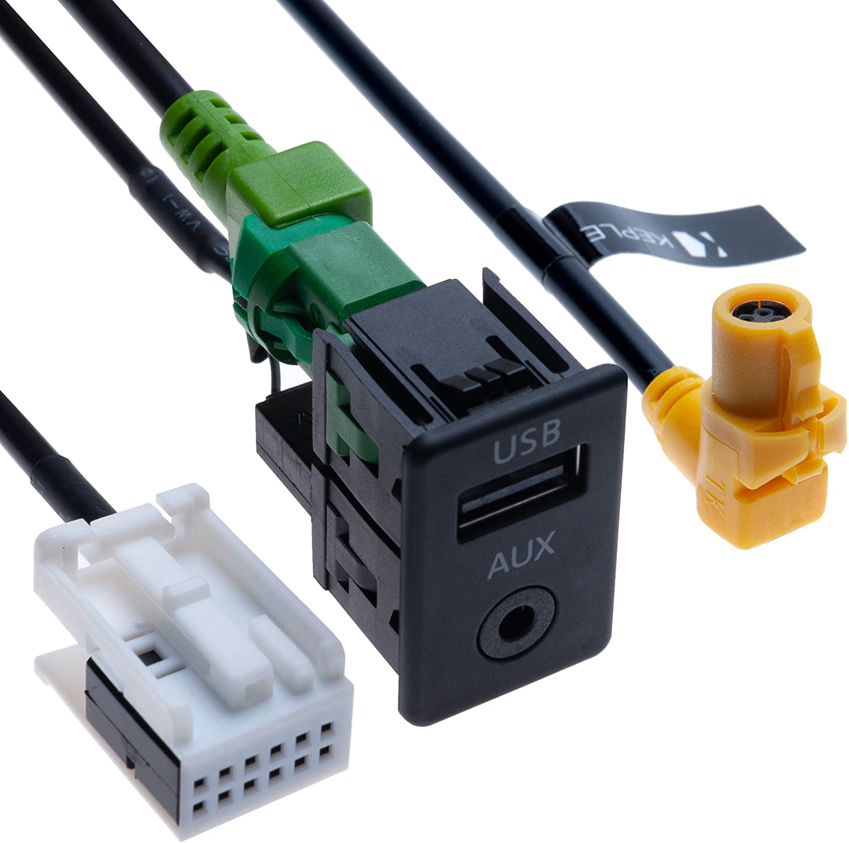 Usb Aux Autoschalter Usb 4 Poliges Anschlusskabel Elektronik