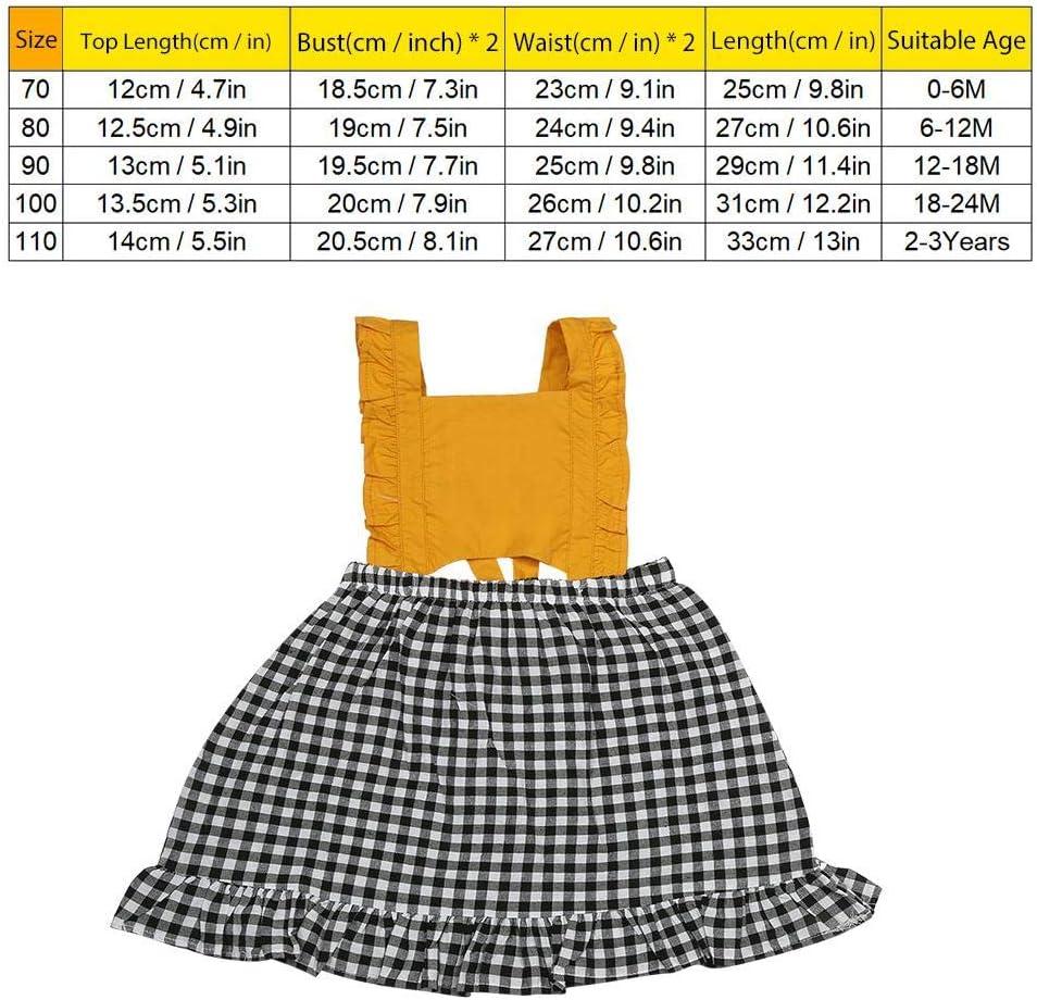 Baby Princess Dress 70 Cute Yellow Plaid Princess Dress Baby Fashion Sleeveless Bowknot Little Girl Dress
