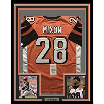 Image Unavailable. Image not available for. Color  Signed Joe Mixon Jersey  - FRAMED 33x42 Orange COA - JSA Certified - Autographed ... 854f8b188