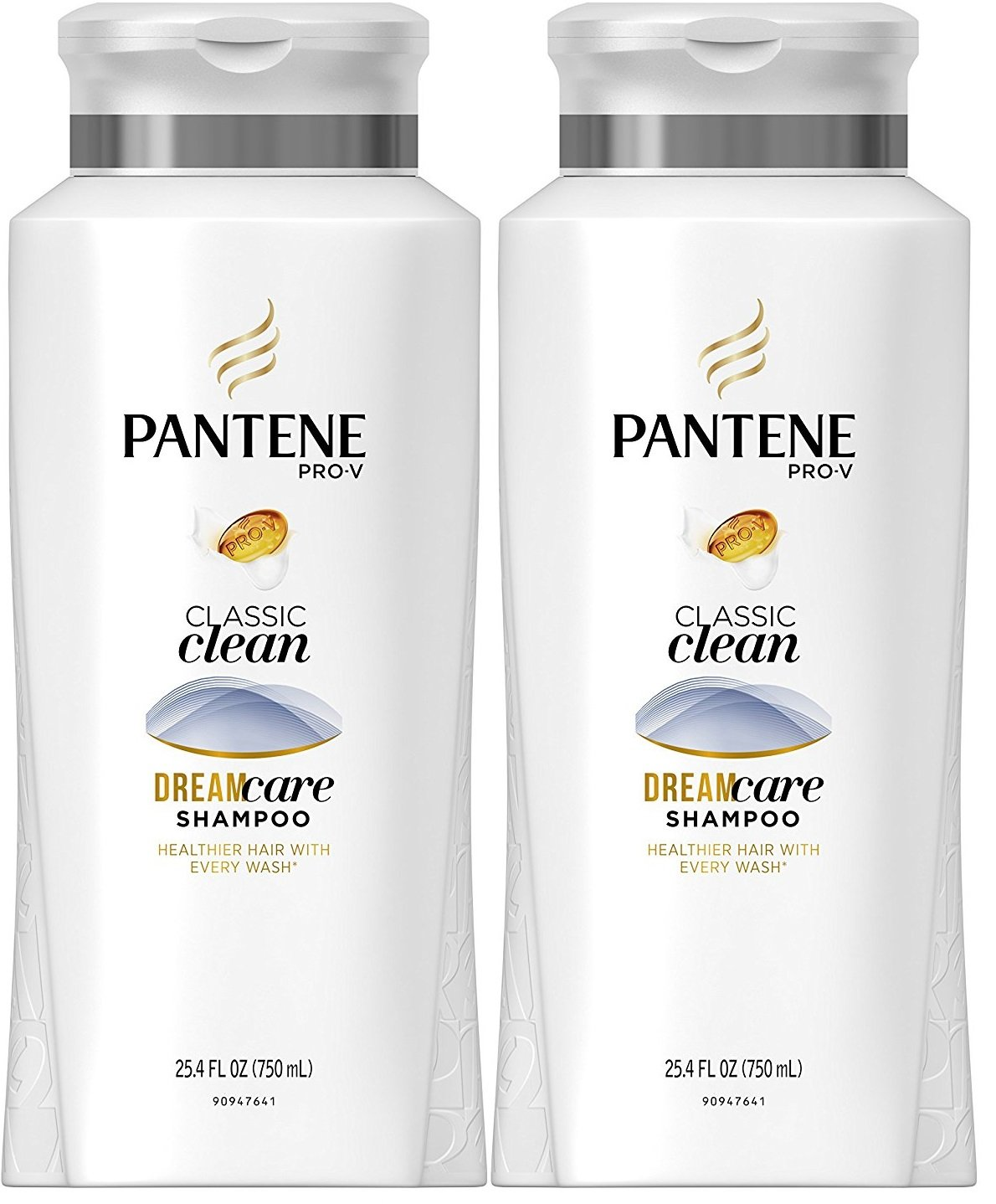 Pantene Pro-V Classic Clean Daily Shampoo 25.4 Fl Oz (Pack of 2)
