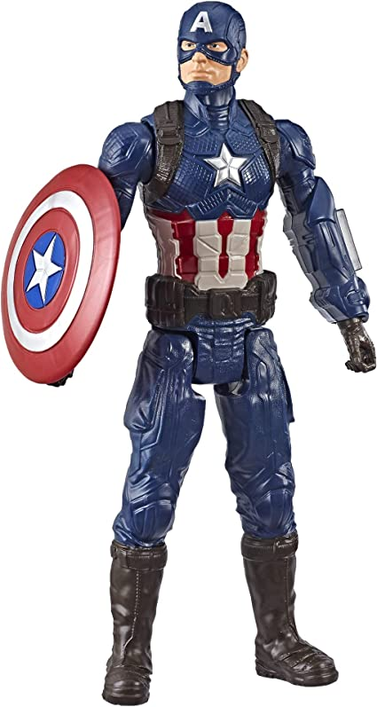 Avengers Endgame Titan Hero Power FX Captain America 12-Inch Action Figure