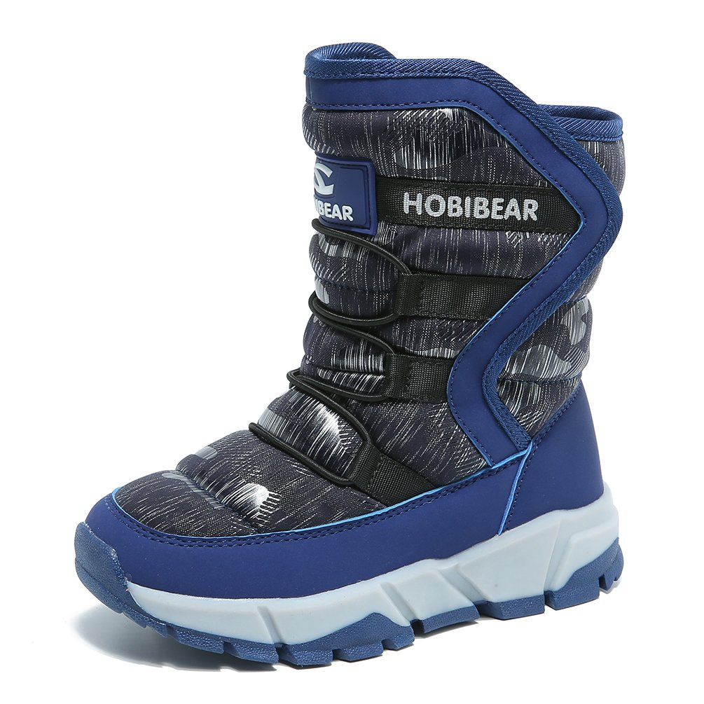 KAOTE Boys Snow Boots Outdoor Warm Winter Boot for Cold Weather Waterproof KTH7558