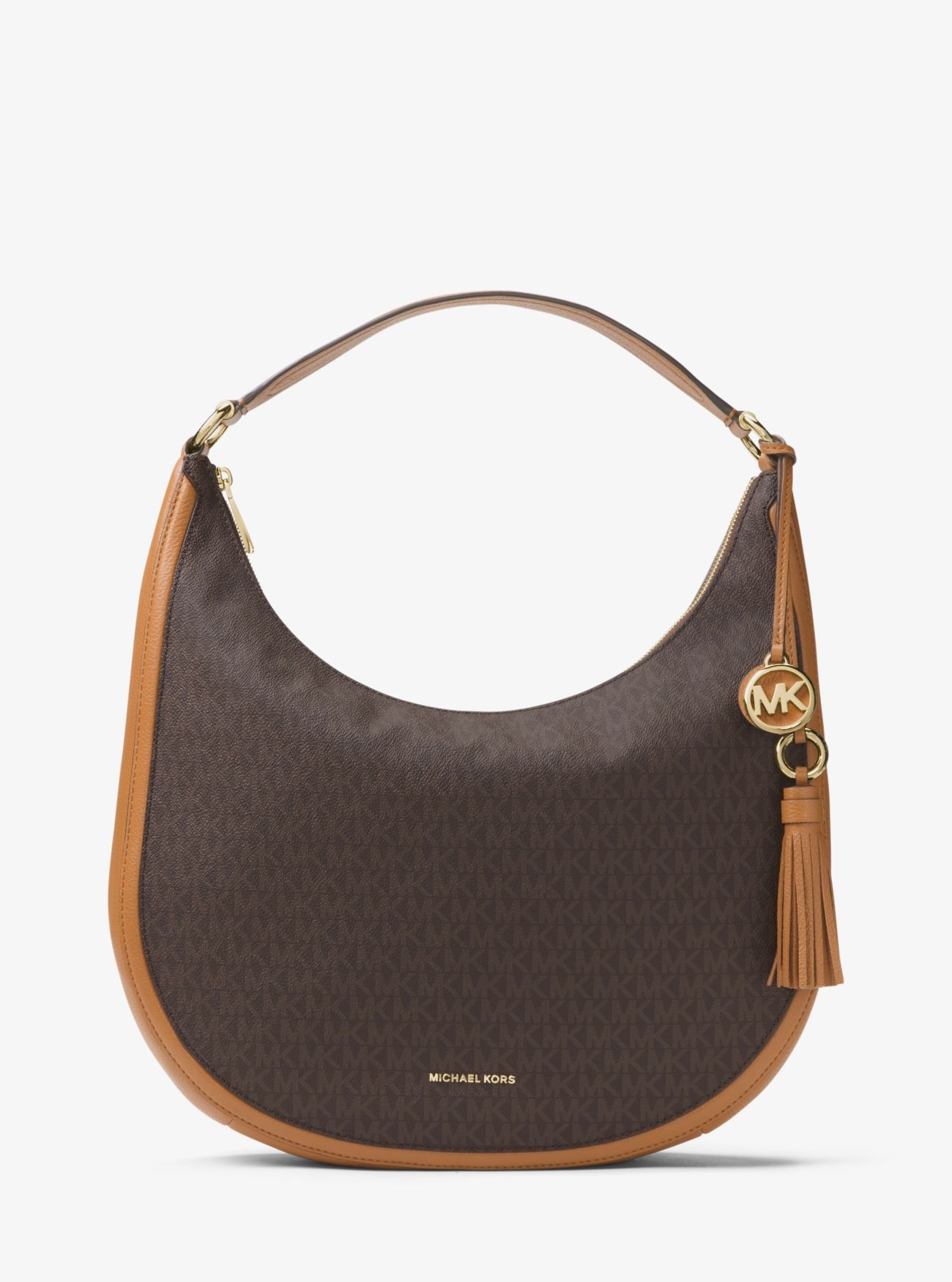 MICHAEL Michael Kors Lydia Logo Shoulder Bag, Color Brown