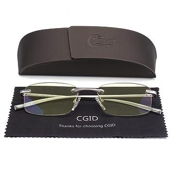175d691653a Unisex Lightweight Rimless Frameless Rectangle Reading Glasses Mens Womens  Spring Hinge Fashion Readers Reading Glasses +2.50  Amazon.co.uk  Health ...
