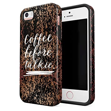 Cover Universe Funda para iPhone 5 & 5s & SE Coffee Before ...