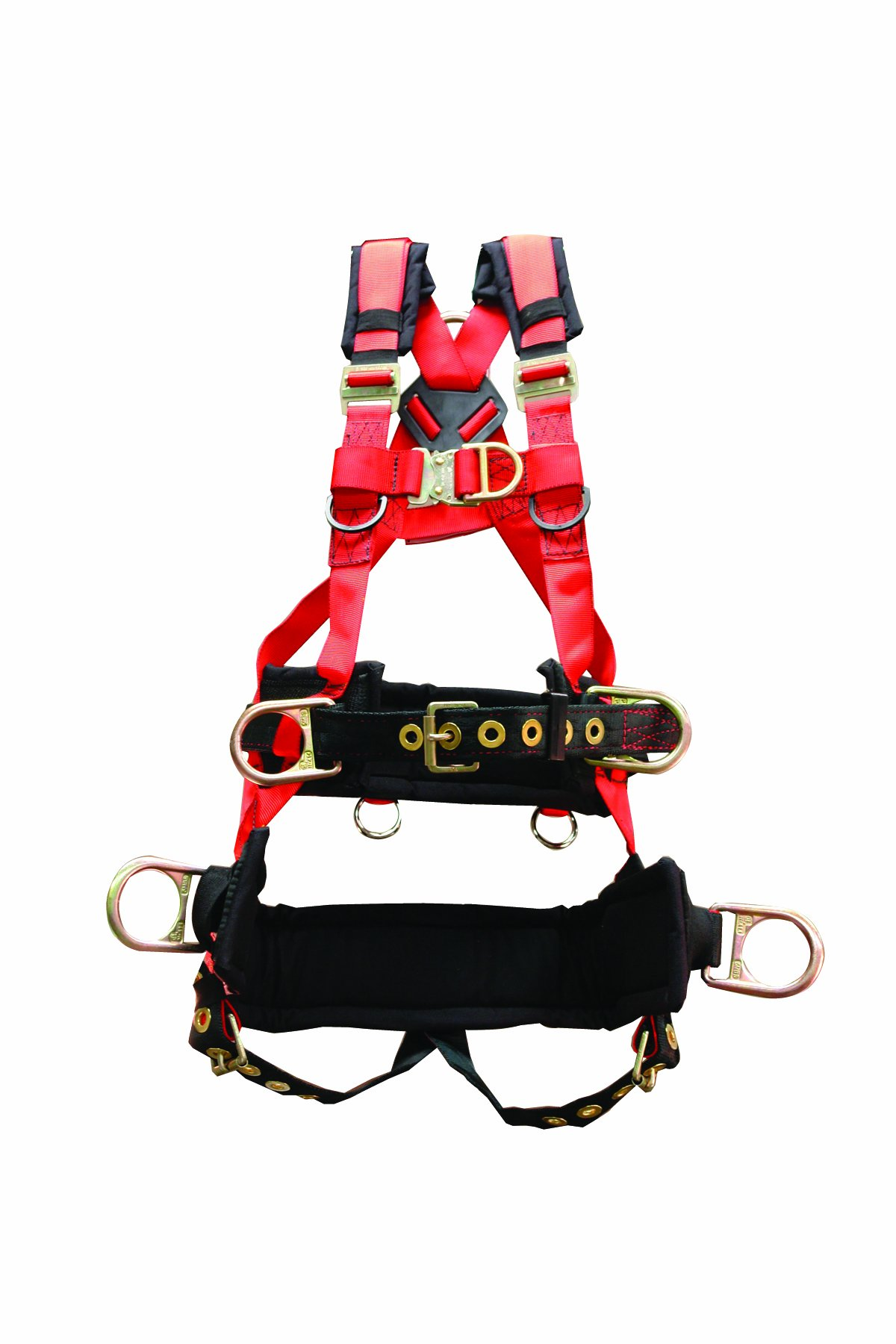 Elk River 66631 EagleTower Polyester/Nylon QC 6 D-Ring Harness with Quick-Connect Buckles, Small