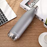 UMAY Lontek Water Bottle- Vacuum Insulated, Double Wall Stainless Steel Vacuum Water Bottle & Keep 20 Hours Hot & 24 Hours Cold, 750ml Large Capacity