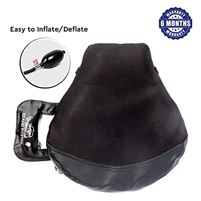 Grand PitStop Motorcycle Cushion Seat Air Comfy Seat Pads for Cruiser Touring with Pressure Relief Pad: Automotive