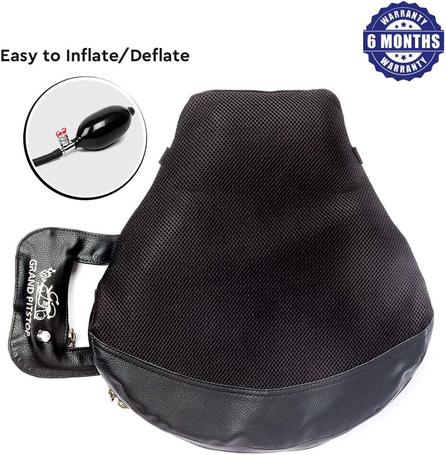 Grand PitStop Motorcycle Cushion Seat Air Comfy Seat Pads for Cruiser Touring with Pressure Relief Pad