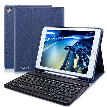 le dernier 7fc36 4fa80 COO Coque Clavier pour ipad 9.7'',Housse Bluetooth Clavier pour iPad 2018(6  Gen) 2017 iPad (5 Gen),iPad Pro 9.7,iPad Air/Air2,Fente Intégré du Stylet  ...
