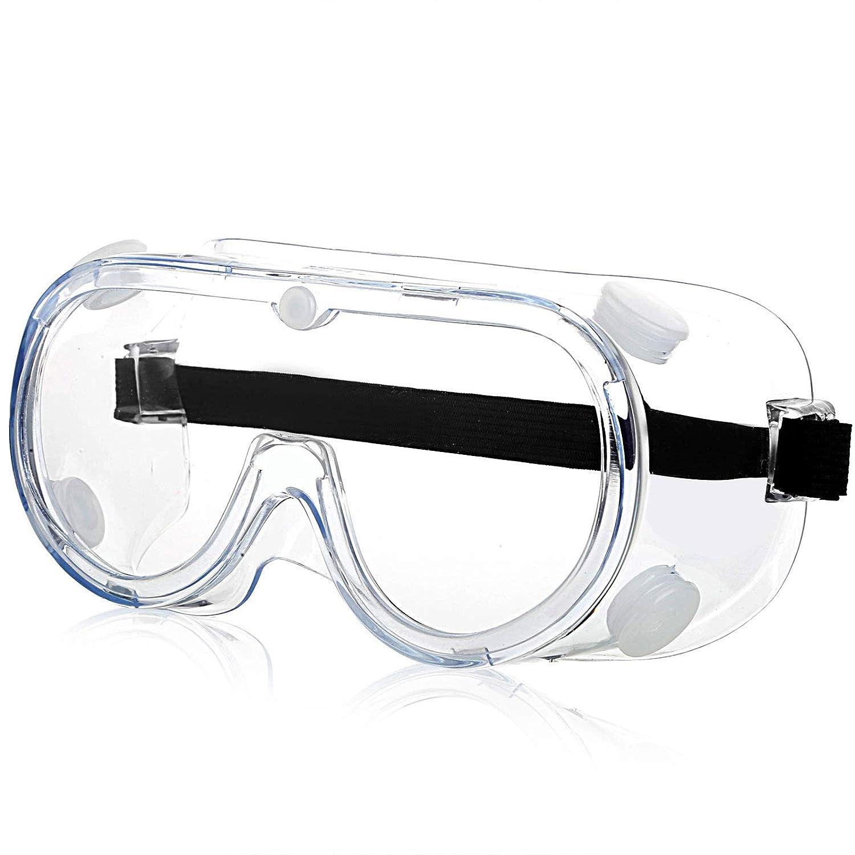 Gafas Proteccion,Gafas de Seguridad[Cinta ajustable],Polvo Prueba de Impacto Arena a Prueba de Viento Para Anti Salpicaduras para Protección Ocular para Home, Ciclismo, Cocina