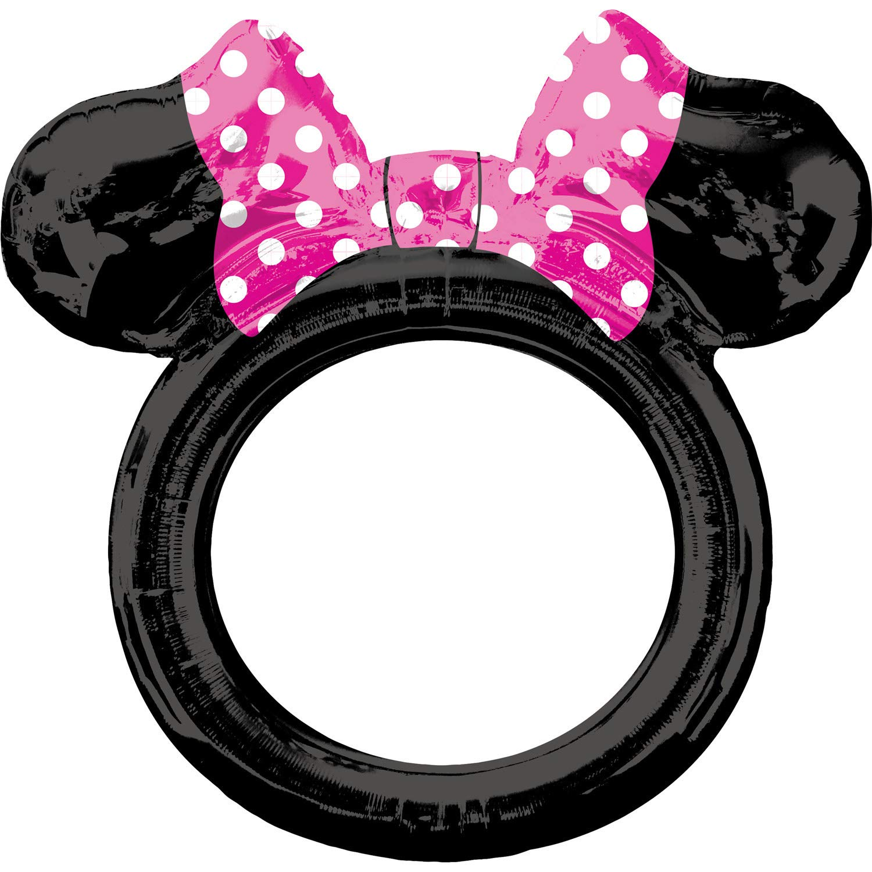 Amazon.com: amscan 3818701 Minnie Mouse Foil Balloon - Black ...