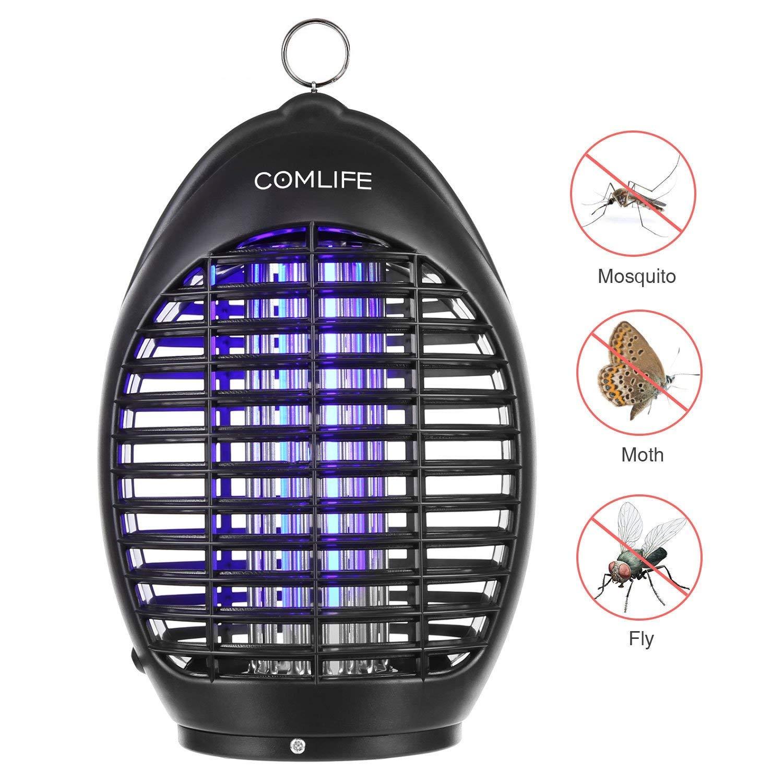 COMLIFE Lámpara Antimosquitos UV 360° Mata Insectos No Posee Químicos para Hogar, Oficina,
