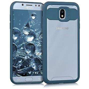 kwmobile Funda para Samsung Galaxy J5 (2017) DUOS - Carcasa [Trasera] de [TPU] para móvil - Cover Protector en [Azul Oscuro]