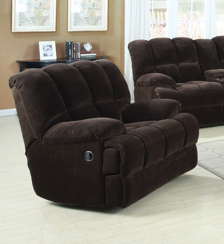 amazoncom acme ahearn rocker recliner chocolate champion kitchen u0026 dining - Rocker Recliners