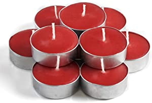 Exquizite Autumn Leaves Scented Tea Lights Candles for Home - Fall Candles Set of 30 - 3-4 Hour Extended Burn Time - Scented Tealight Candles for Holiday, Wedding, Party and Home Decorations