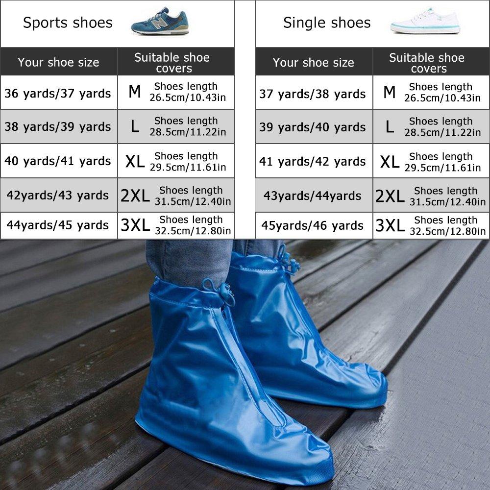 Rrunzfon Cubiertas para Zapatos Lluvia Elegante Protector al Aire ...