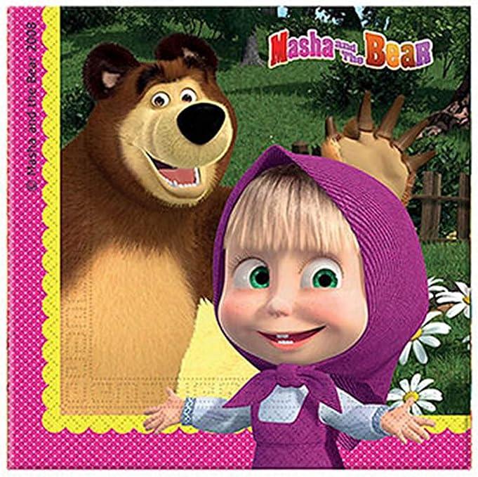 Amazon.com: Masha y el Oso Servilletas (Paquete de 20): Toys ...