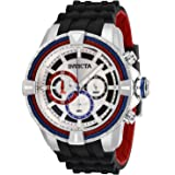 Invicta Men's Bolt Stainless Steel Quartz Watch with Silicone Strap