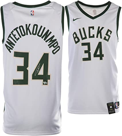 3d4479672fa Giannis Antetokounmpo Milwaukee Bucks Autographed Nike White Association  Swingman Jersey - Fanatics Authentic Certified