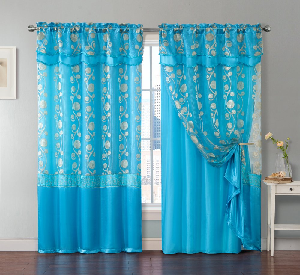 Amazon e Piece Window Curtain Panel Attached Valance and