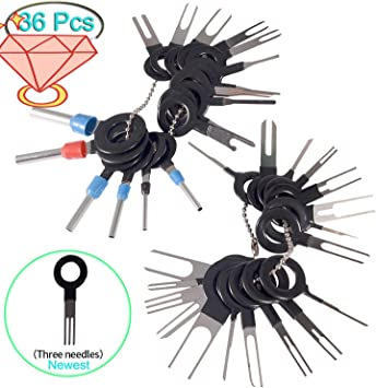 BingSnow 26Pcs Terminals Removal Tools for Car Auto Electrical Wiring Crimp Connector Pin Extractor Puller Repair Remover Key Tools Set for Most Connector Terminal