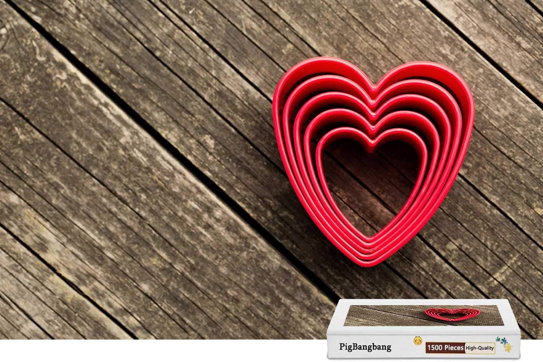 【特別セール品】 PigBangbang、Intellectiv Games ハーツ バスウッド カラフル- ラブ B07HF7RQQL ハーツ ウッド背景 - X 1500ピース ジグソーパズル (34.4 X 22.6インチ) B07HF7RQQL, 用宗のところてん:6b08cede --- a0267596.xsph.ru