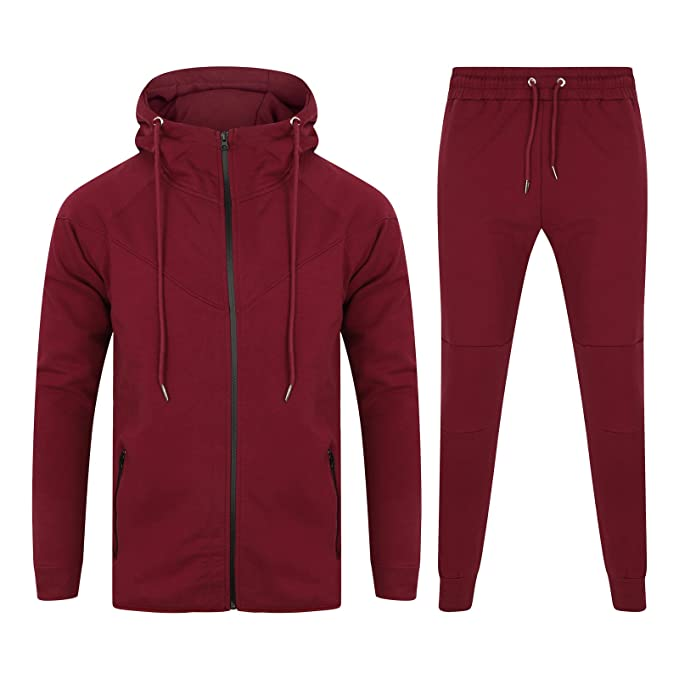 7feab527bfc Outfit designer new mens lycra fleece slim fit tracksuit set stretchable  muscle fit clothing jpg 679x679