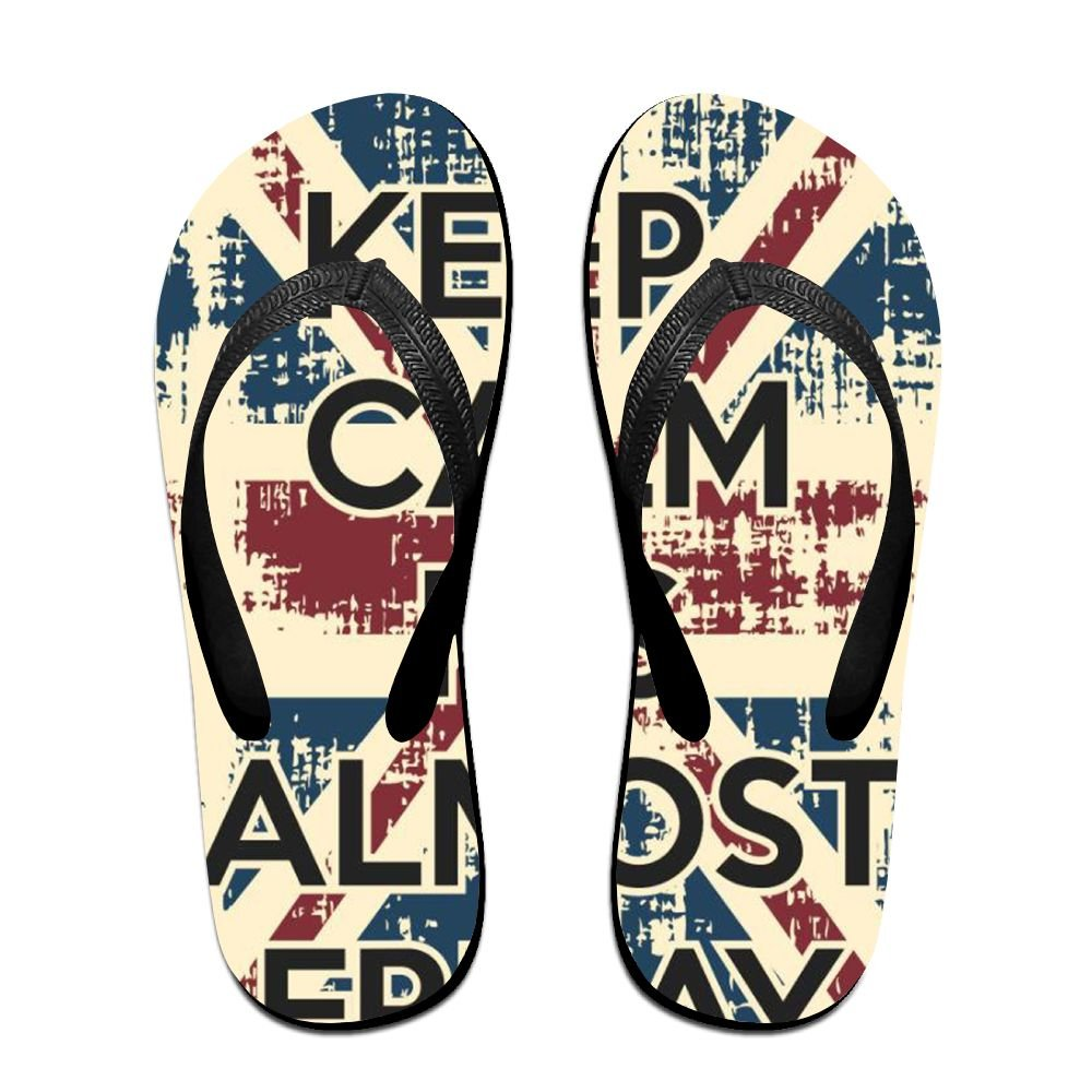 Tailing Flip Flops Keep Calm In England Flag Unisex Trendy Print Slippers Beach Sandal